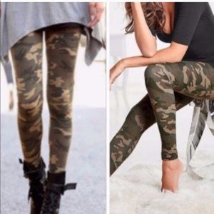 New Plus Size Camo Legging One Size